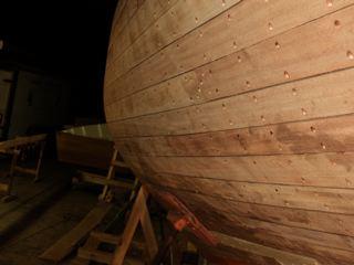 Fairing the hull